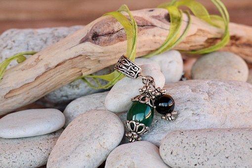 Necklace, Sassi, Stones, Pendants, Wood, Sardinia