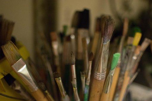 Paintbrush, Paint, Artist, Painter, Art, Color