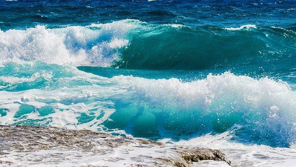 Wave, Smashing, Foam, Spray, Sea, Nature, Wind, Power