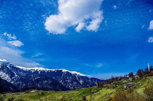 Landscape, Cloud, Highland, Grass, Clouds, Sky, Nature