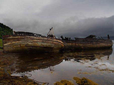 Mull, Scotland, Wreck, Ship, Hebrides, Coastline