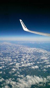 Cloud, Winglet, Horizon, Aircraft, Europe