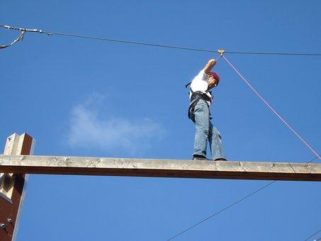 Rope Types, Climb, Sky, Sky Blue, Climber, Security