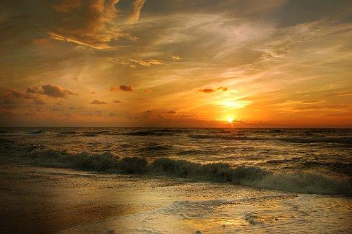 Flood, Beach, Sea, Wave, Coast, Water, Holiday, Sand
