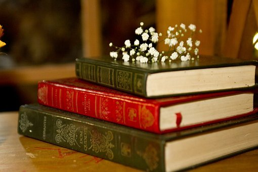 Books, Decoration, Marriage, Flowers