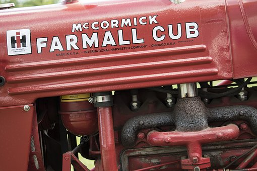 Mccormick, Farmall, Cub, Tractor, Red, Farming