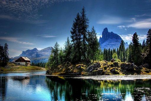 Lago Federa, Dolomites, Nature, Lake, Alpine, Mountains