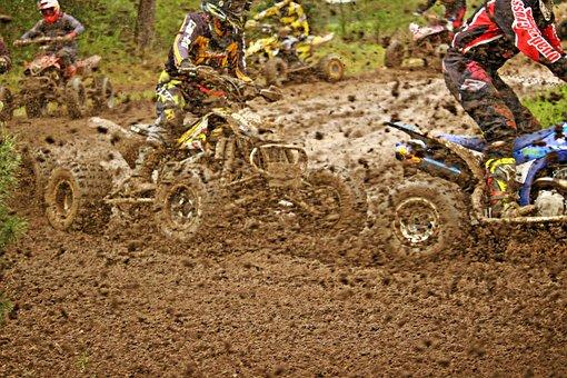 Motocross, Enduro, Quad, Quad Race, Mud, Atv