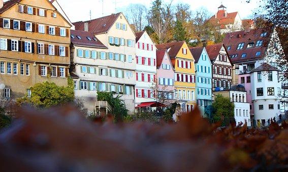 Tübingen, Neckar, City, Old Town, River, Historically
