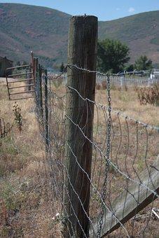 Fence, West, Western, Cowboy, Farm, Old, Ranch, Wild