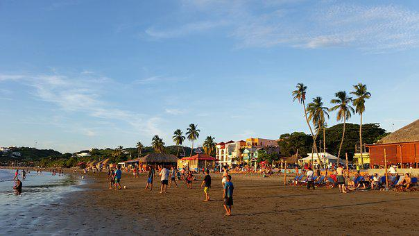 Sanjuandelsur, Nicaragua, Beach, Sunset, Sea, Holiday