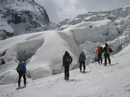 Valle Blanche, Chamonix, Crevasse, Alps, Ski Tour, Ski