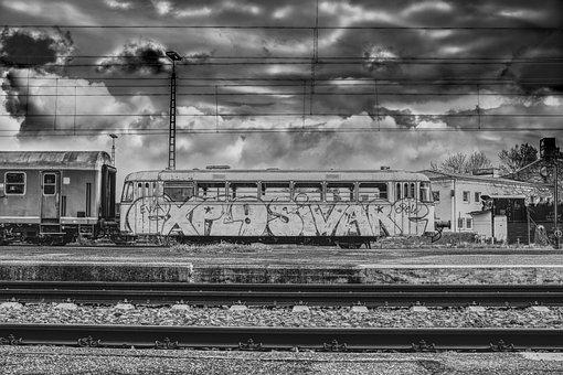 Dramatic, Train Car, Wagon, Zugabteil, Nostalgic, Train