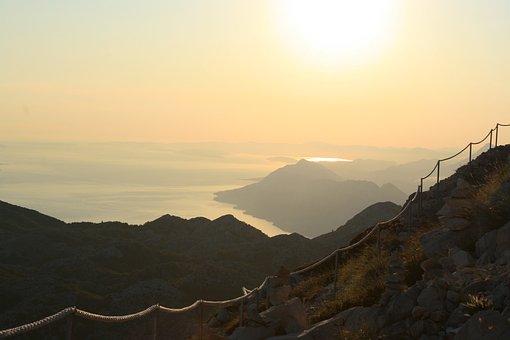 Sunset, Mountain, Croatia, Nature, Travel, Sky