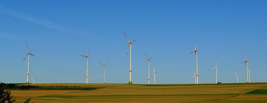 Wind Turbine Field, Windmill Blades, Propeller