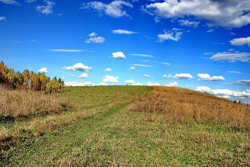 Autumn, Road, Sky