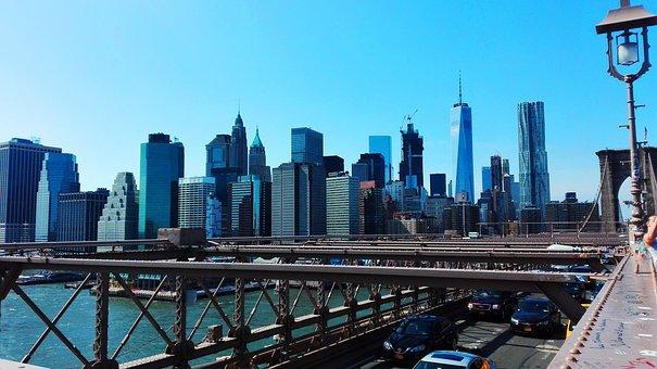 New York, Brooklyn, Bridge, Brooklyn Bridge