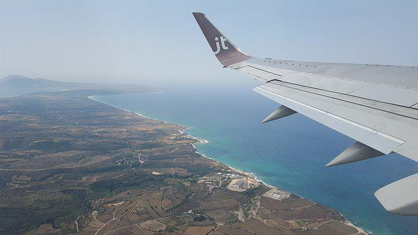 Holiday, Plane, Coast, Sea, Air, Clouds, Airphoto, Fly