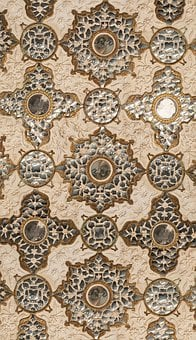 Pattern, Mirrors, India, Mughal, Design, Style