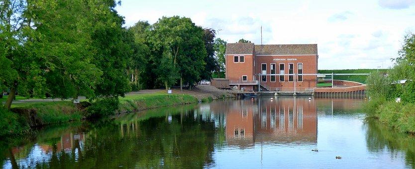 Greetsiel, Greetsieler Schöpfwerk, East Frisia, Germany
