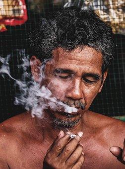 Man, Vietnam, People, Smoke, Life, The Street, Everyday