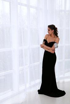 Model, Girl, Dress, Posture, Photoshoot, Riddle