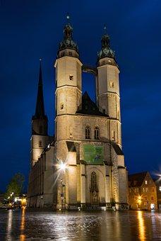 Hall, Saale, Saxony-anhalt, Germany, Market Church