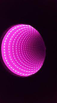 Infinity Tunnel, Led, Pink, Light, Sensory, Technology