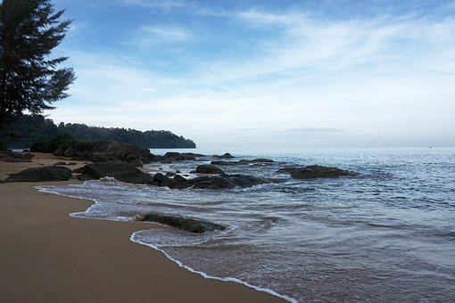 Beach, Shore, Coast, Sky, Sea, Sand, Blue, Ocean