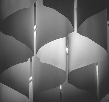 Lights, Abstract, Architecture, Design, Black, White