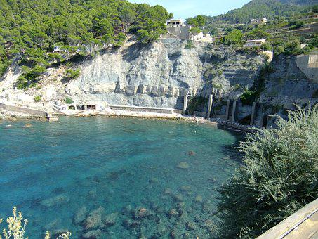 Banyalbufar, Mallorca, Tramuntana, Beach