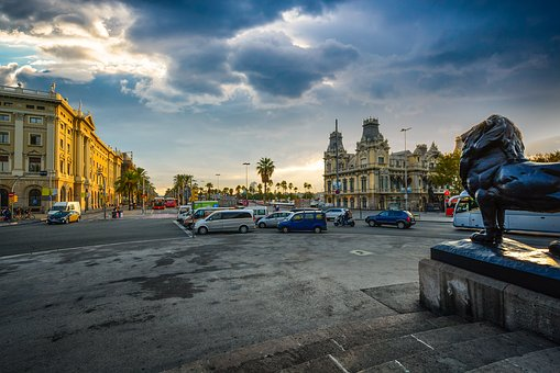 Barcelona, Morning, Spain, Coast, Mediterranean