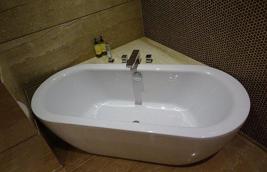 Tub, Bathtub, Bathroom, Modern, Style, Hygiene, Indoor