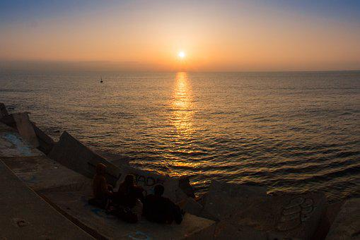 Whater, Sun, Sunset, Beach, Sunlight, Landscape, Be