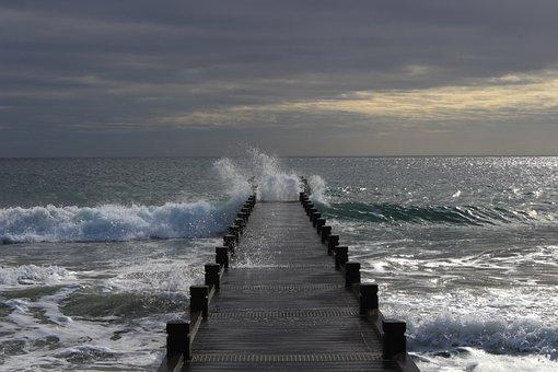 Sea, Wave, Energy, Beach, Ocean, Surfers, Scum