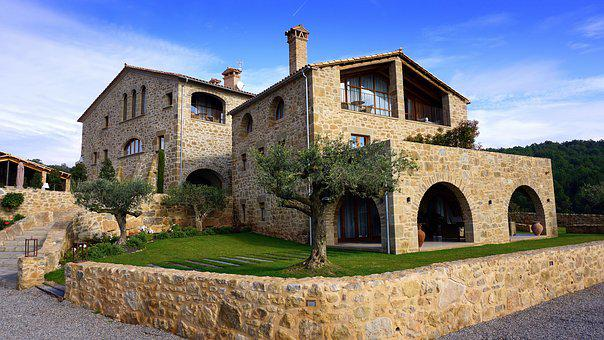 House, Farmhouse, Bed And Breakfast, Rustic, Stone