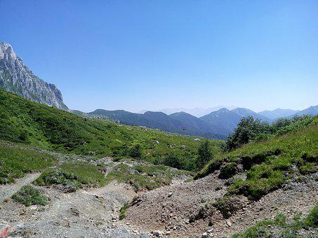 Mountains, Open Space, Blue Sky, Nature, Journey