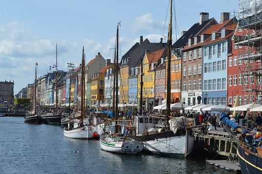 Nyhavn, Denmark, Copenhagen, Canal, Scandinavia, Danish