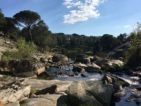 Nature, Spain, Landscape, Mountain, River, Castle-lion