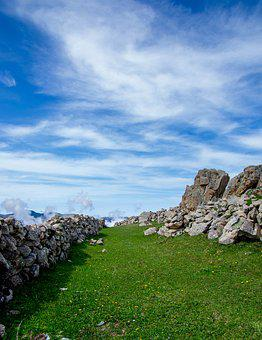 Landscape, Green, Blue, Cloud, The Stones Are, Highland