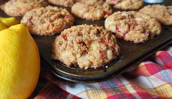 Cranberry Muffins, Muffin, Cranberry, Lemon, Muffin Tin