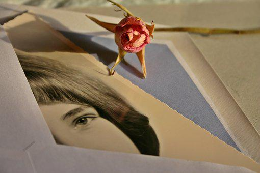 Letters, Envelope, Photo, Image, Woman, Rose, Memory