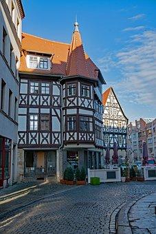 Hall, Saale, Saxony-anhalt, Germany, Old Town