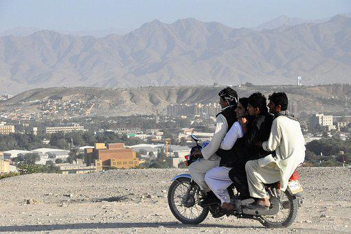 Moped, Motorcycle, Handlebars, Four, Too Much, Kabul