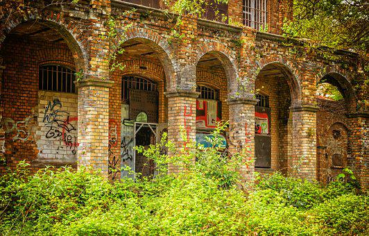 Lost Places, Wall, Home, Brick, Red, Dilapidated