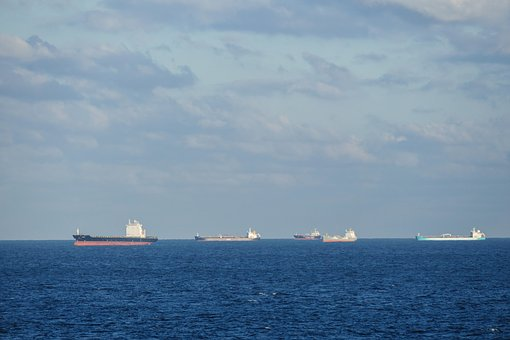 North Sea, Sea, Freighter, Ships, Industrial Ships