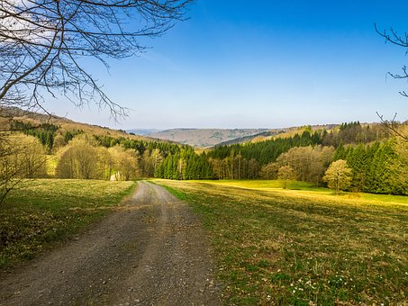 Landscape, Away, Spring, Nature, Sky, Meadow, Mood