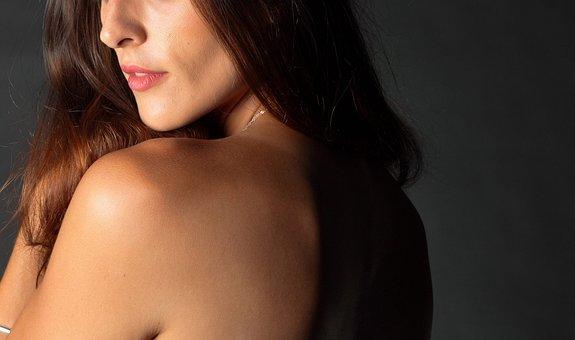 Female, Long Hair, Back, Shoulder, Lips, Nose, Girl