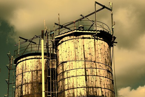 Silo, Agriculture, Wood, Old, Old Silo, Sky, Mood