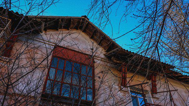 Yard, House, Window, Summer, Old Town, Tourism, Russia